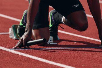 Athlete Runner Sprint Fast Black