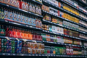 Beverages Bottles Shelf Cans