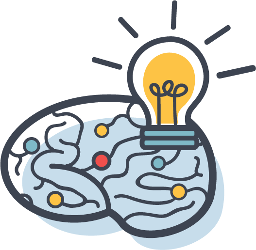 brain light bulb icon