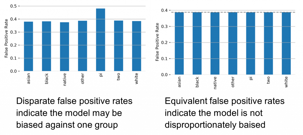 production machine learning auditing depicting false positive rates